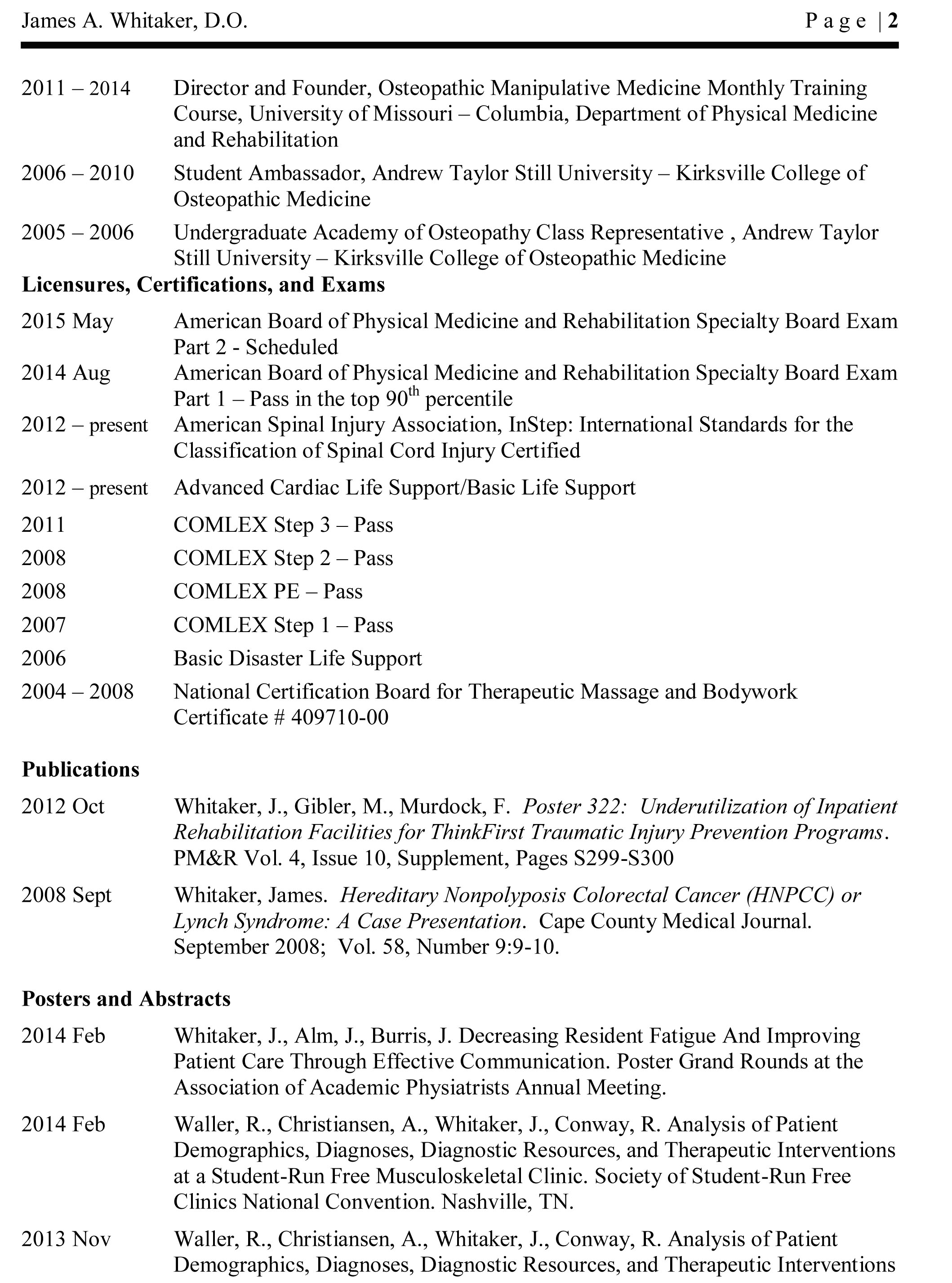 Cv page 2 idaho joint and spine cv page 2 xflitez Gallery